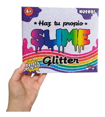 fábrica kit de slime glitter brillante c/ receta no tóxica