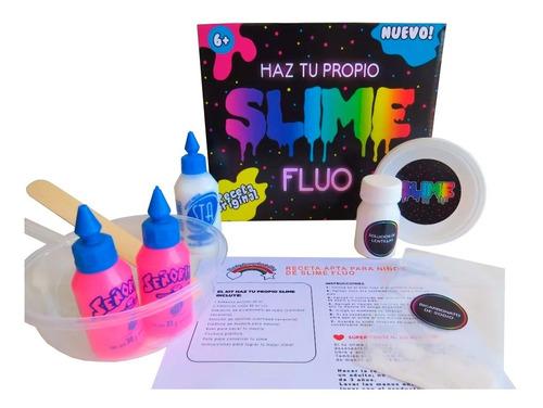 fábrica kit para hacer slime flúo fórmula fácil y no tóxica