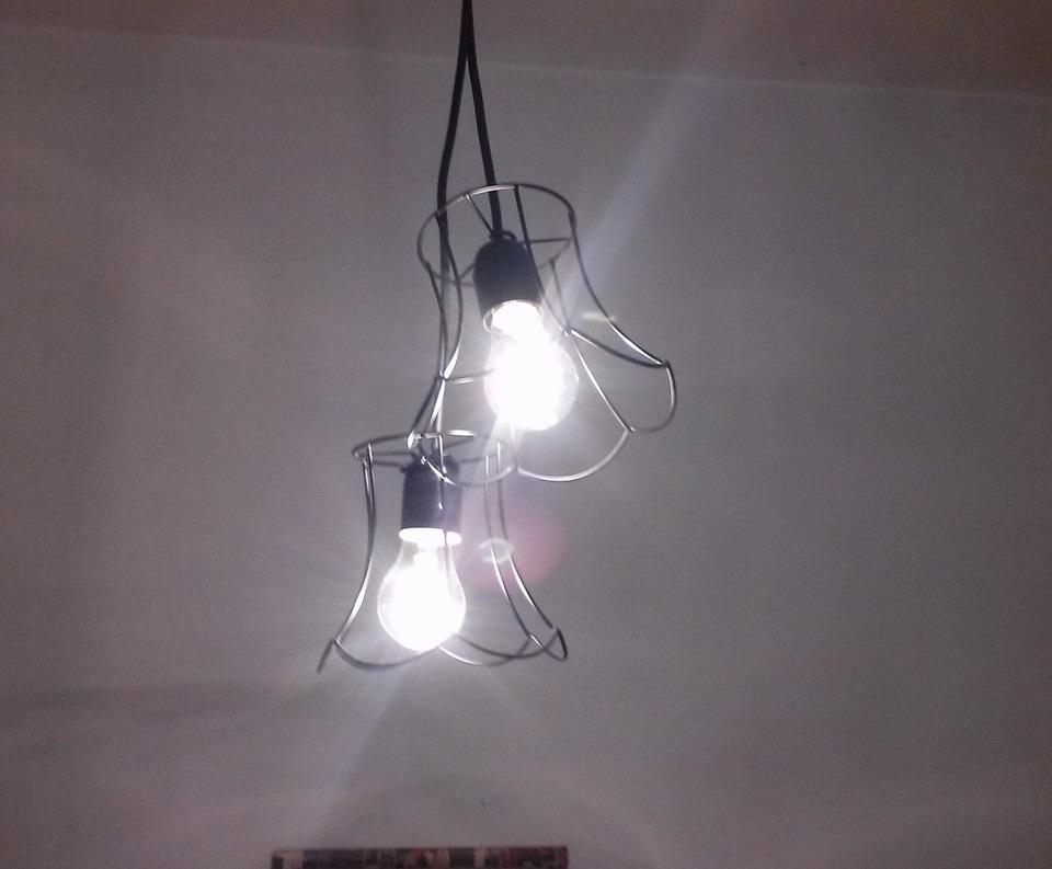 Fabrica lamparas hierro colgante de techo retro vintage - Fabrica tu lampara ...