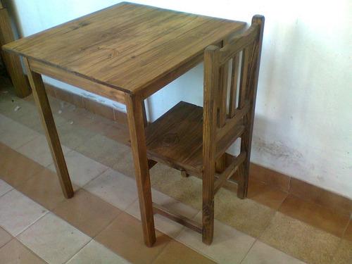 fabrica mesas y sillas bar restaurante  mesa bar pino