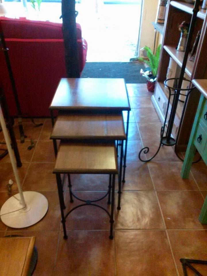 Fabrica Muebles En Hierro Forjado,decoraciones,mesa Nido  $ 7950,00