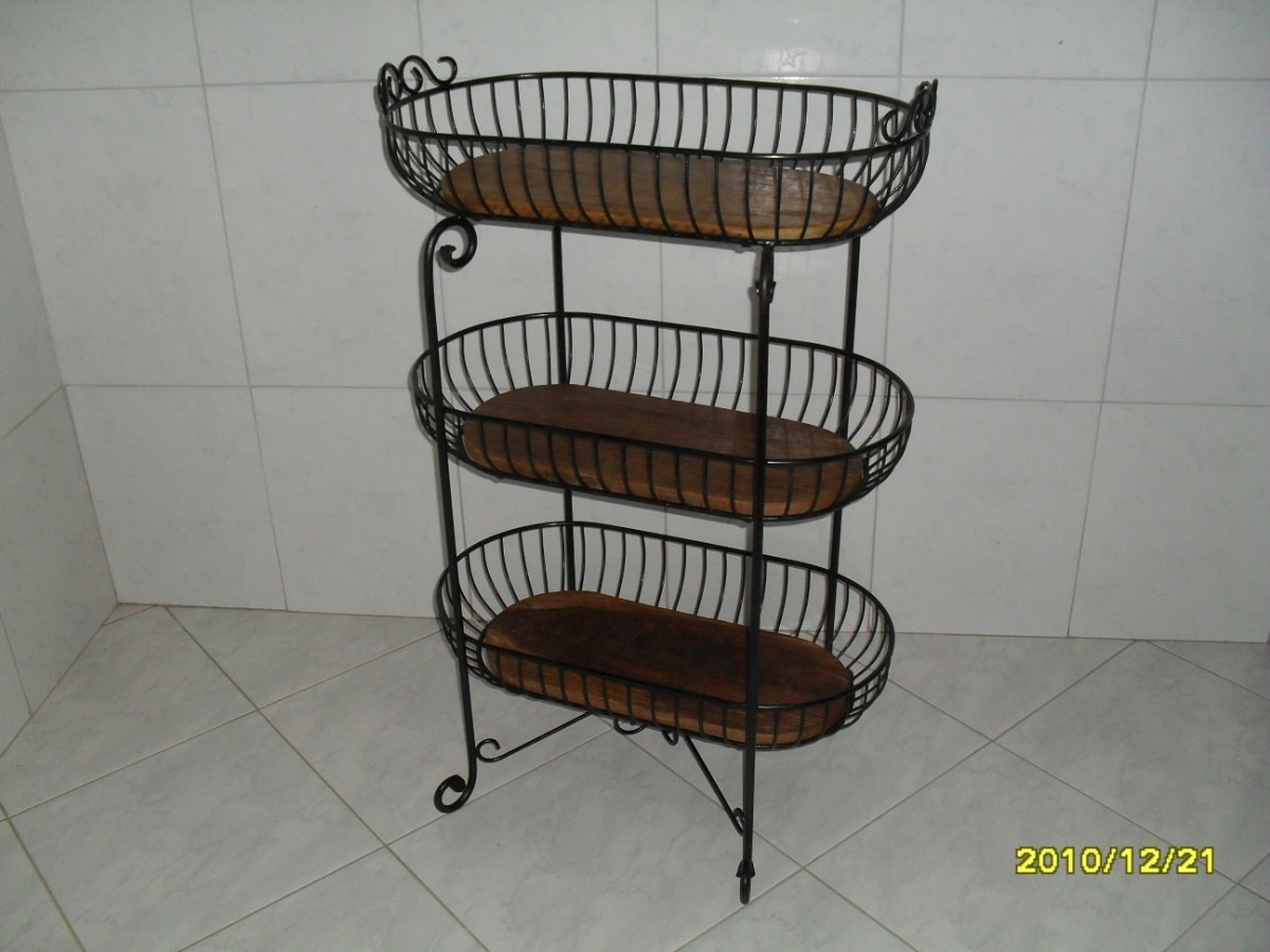 Fabrica muebles hierro forjado decoracion interiores for Mesa cocina frutero