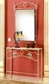 fabrica muebles hierro forjado,dressoire y espejo,decoracion