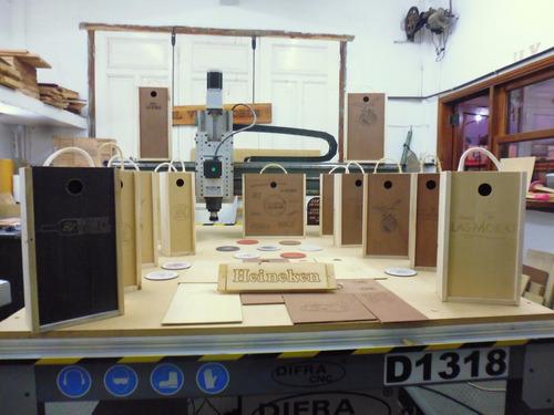 fabricacion de cajas para vino en madera