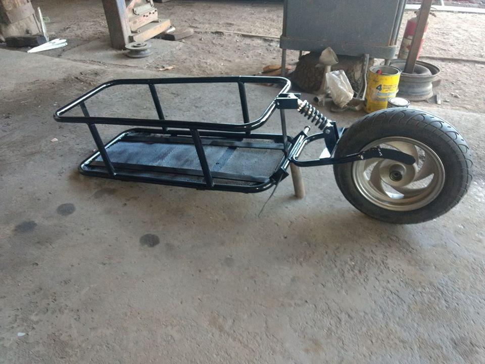 Fabricacion de carro de arrastre para moto en for Carro compra moderno