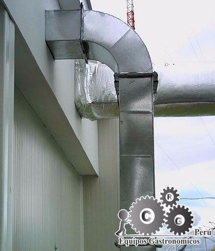 fabricación de ductos redondos,cuadrados,codos,campanas
