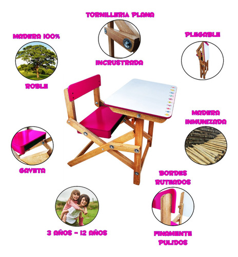 fabricación de escritorio mesa para niños tipo pupitres