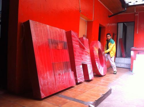 fabricacion de letras 3d rótulos