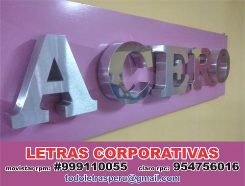 fabricación de letras corporeas, mdf, acrilico, acero y mas.