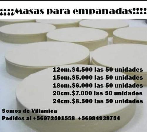 fabricación de masas para empanadas distintos tamaños y prec