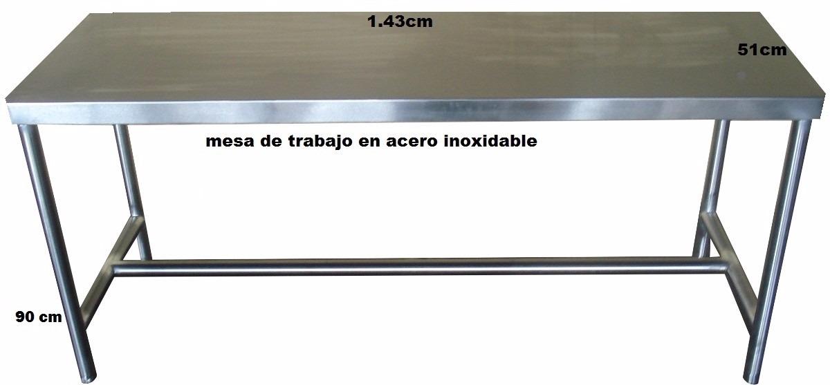 Fabricacion de mesas en acero inoxidable consultar precios en mercado libre - Mesa de trabajo acero inoxidable ...