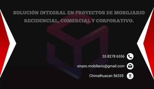 fabricación de mobiliario residencial,comercial,corporativo