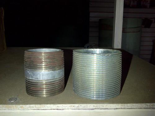 fabricación de niples galvanizados de diferentes diámetros,