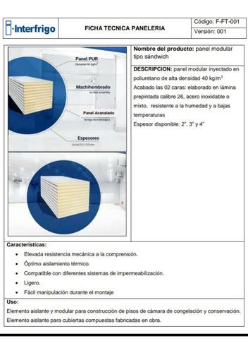 fabricación de panel termoacustico