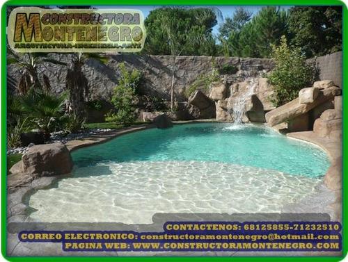 fabricacion de piscinas tipo playa