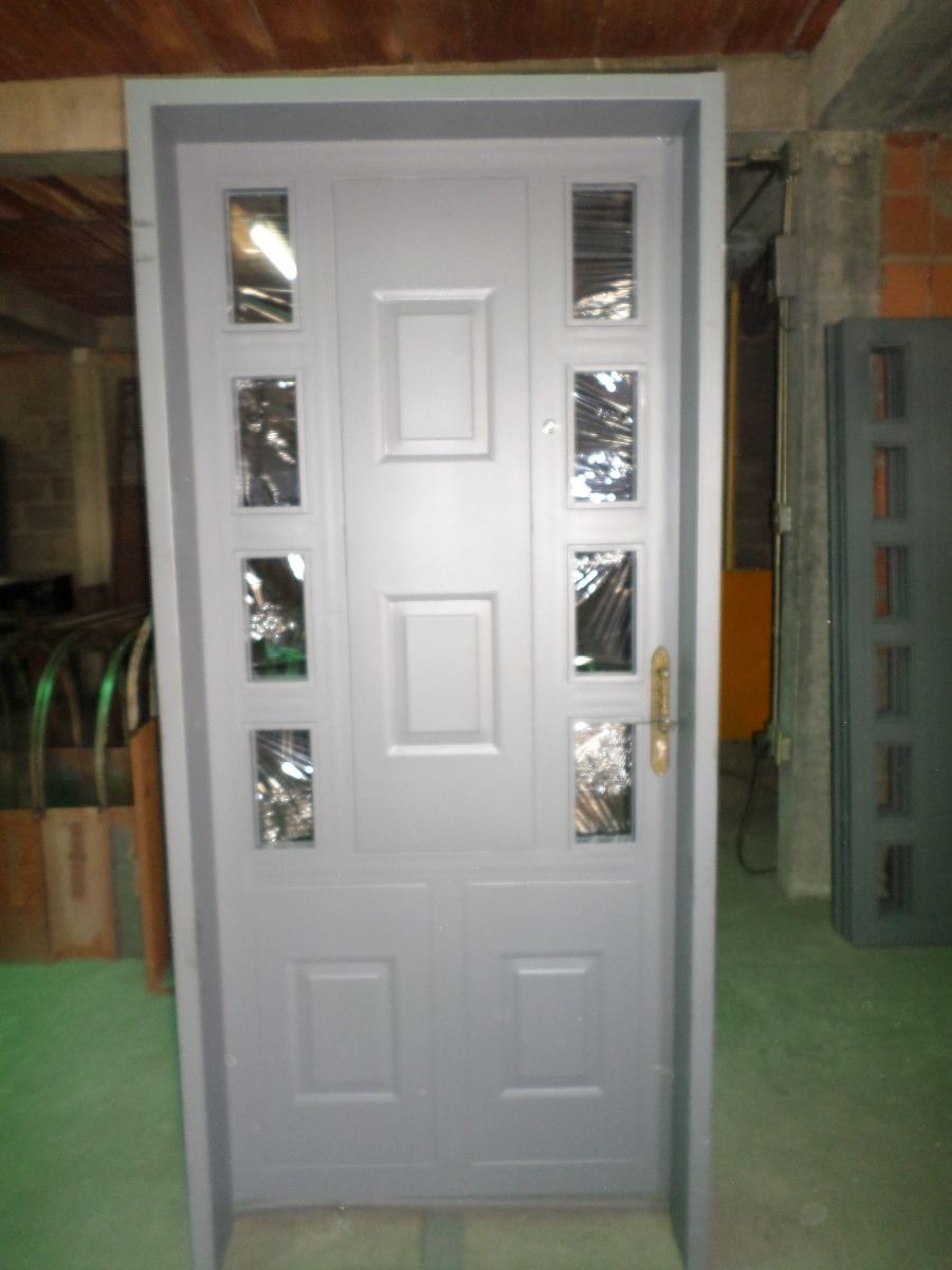Fabricacion de puertas de hierro protectores y marcos for Modelos de puertas y precios