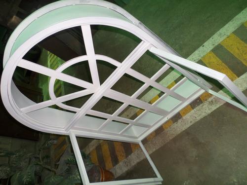fabricación de puertas de hierro, ventanas y marcos en arco.
