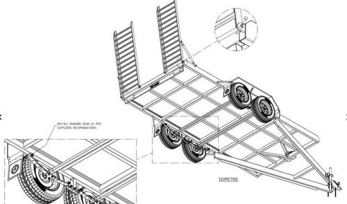 fabricación de remolque carreta para minicargador 5 tn