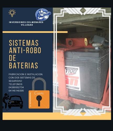 fabricación e instalación  de cestas antirobo  de baterias