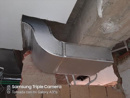 fabricación e instalación de ductos para a/c y bajantes