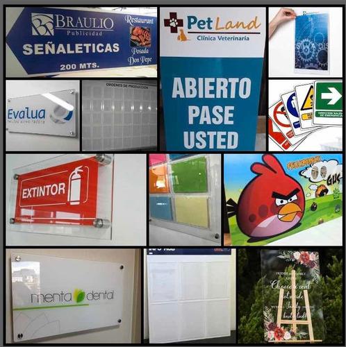 fabricación: letreros y tableros en acrílico,pvc y coroplast