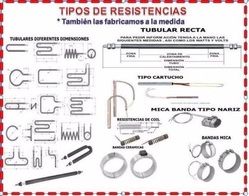 fabricacion resistencias eléctricas industriales en general