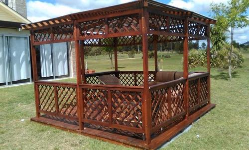 fabricación techos pergolas gazebos en madera