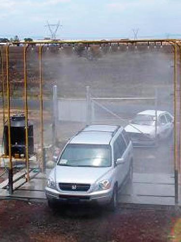 fabricación tunel o arco sanitizador peatón o autos