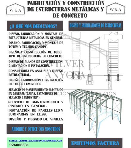 fabricación y construcción de estructuras metálicas y concre