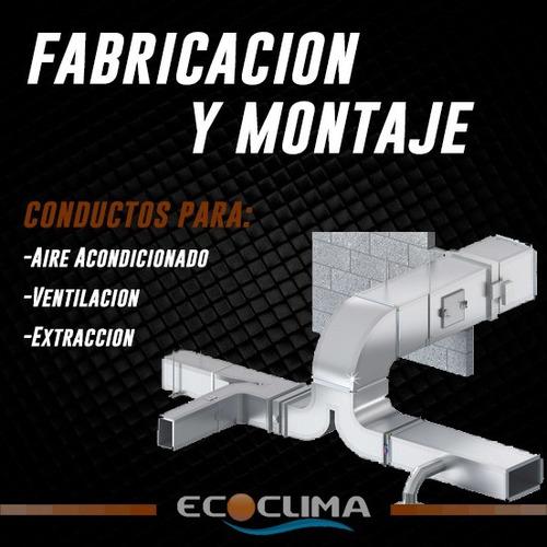 fabricación y montaje de conductos para aire acondicionado