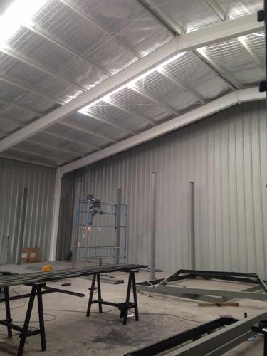 fabricación y montaje de galpones metálicos.
