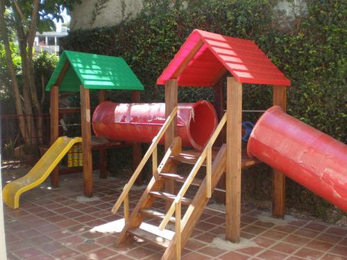 fabricación y recuperación de parques infantiles madera