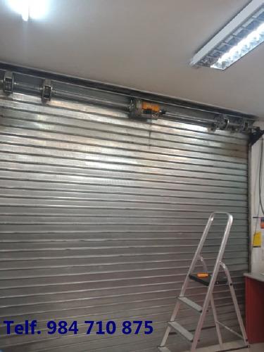 fabricación y reparación de puertas enrollables