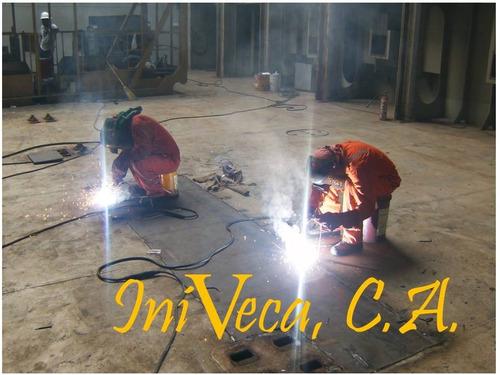 fabricación y soldadura de tanques y tuberías.