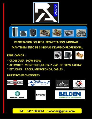 fabricacion y venta de articulos para sonido profesional