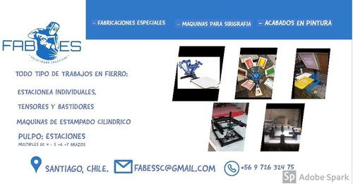 fabricaciones especiales en fierro; maquinas, equipamientos