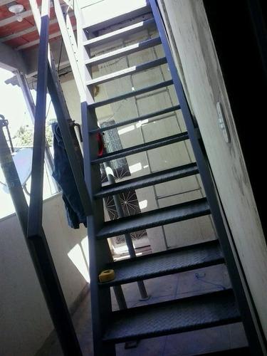 fabricação de escadas de aço /serralheria ferro forte
