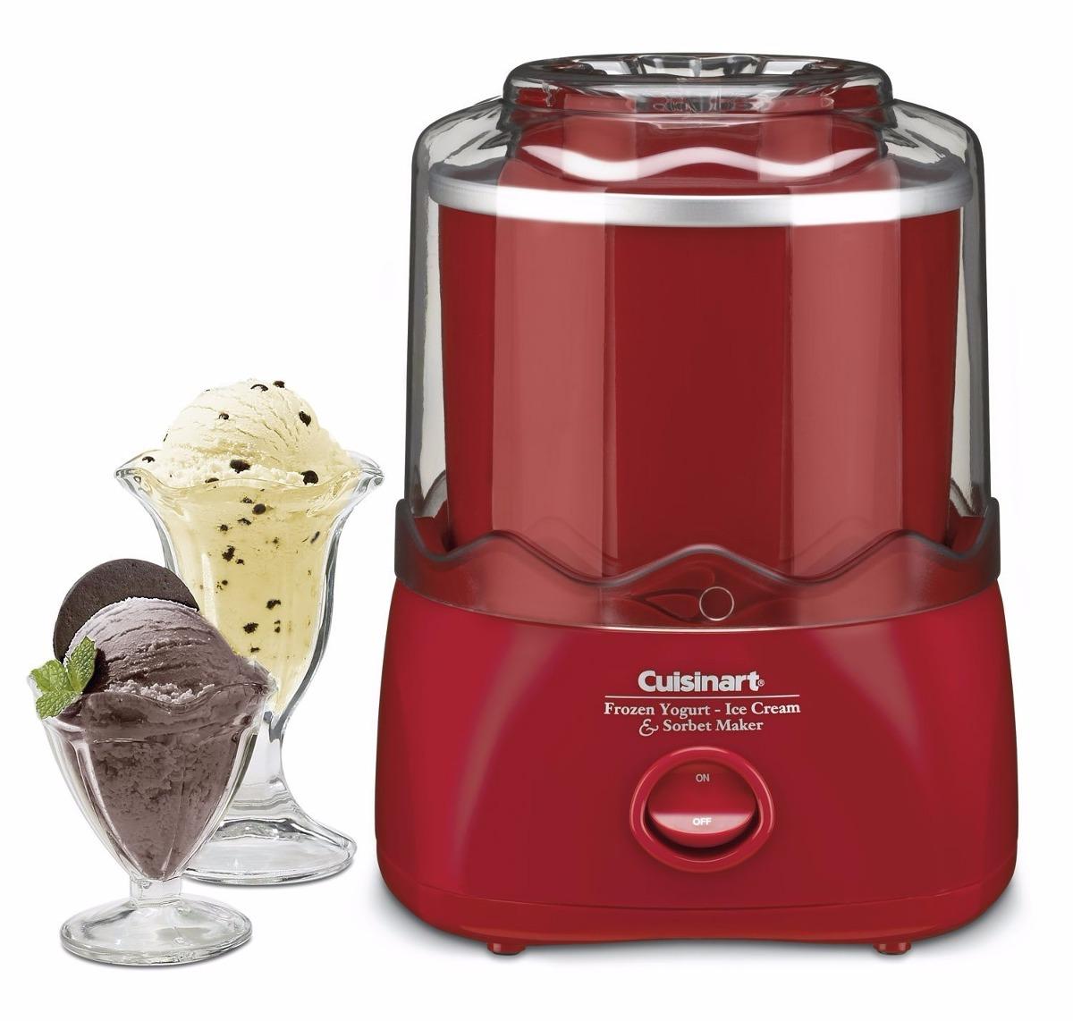 Fabricadora de helado yogurt y sorbete cuisinart roja for Estufas industriales usadas bogota