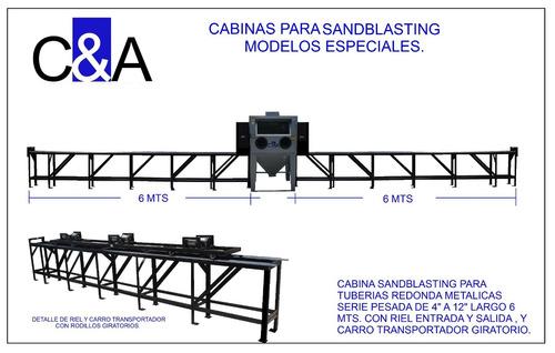 fabricamos cabinas y tolvas para sandblasting o arenado
