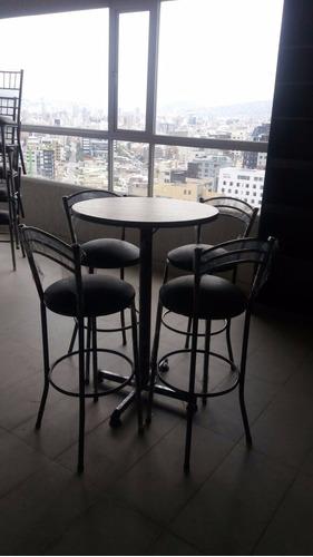 fabricamos juegos de comedor metalicos, sillas de bar