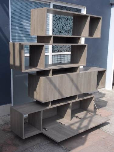 fabricamos libreros modernos minimalistas, modelo lib015