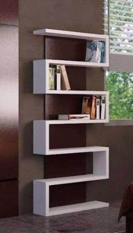 Fabricamos libreros modernos minimalistas modelo lib015 b - Muebles de madera modernos ...