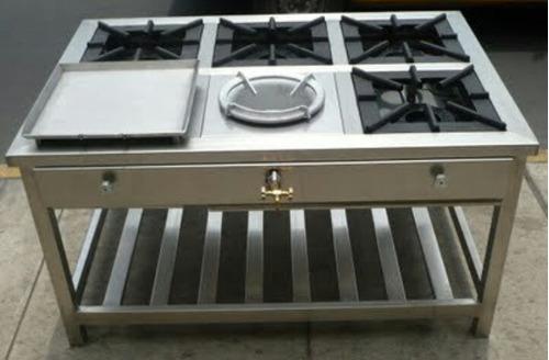 fabricamos todo tipo de cocinas industriales en acero inox