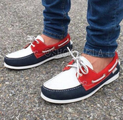 fabricamos zapatos nauticos de cuero mocasines unisex mayor