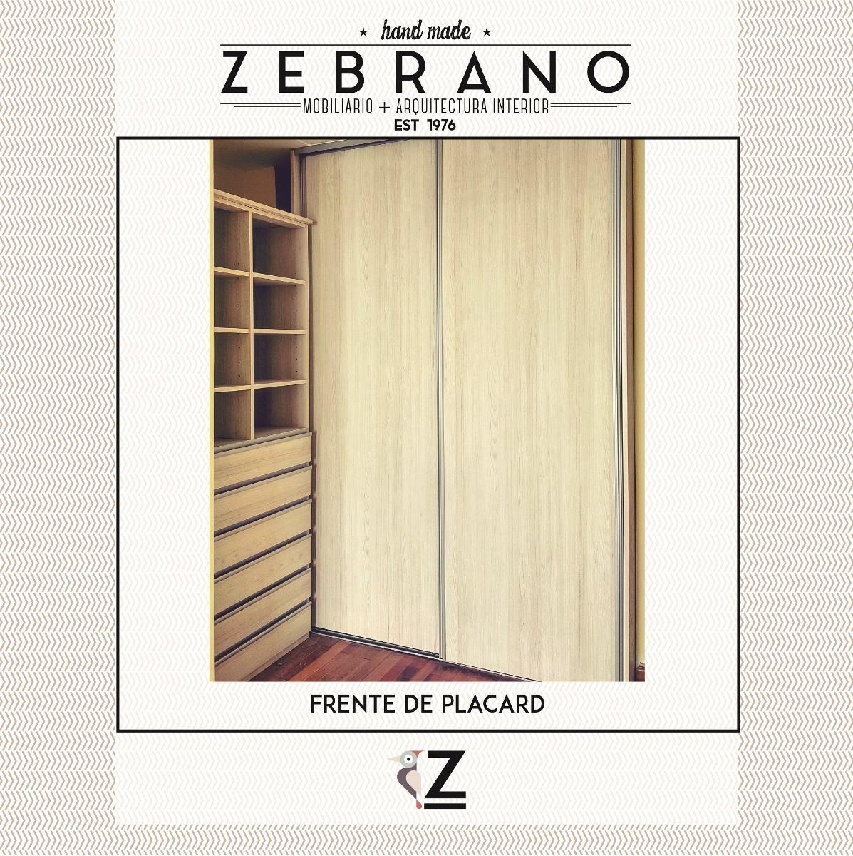 Fabricantes | Frente De Placard A Medida | Zebrano M+a - $ 5.200,00 ...