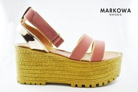 Dama Claro Mercado Yute Rosa Plataforma En Sandalias Libre Zapatos reBWxodC