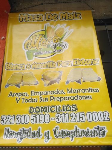 fabricsmos y distribuimos masa para arepas empanadas