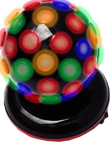 fabulosa esfera de leds rgb gira 360° con iluminacion genial