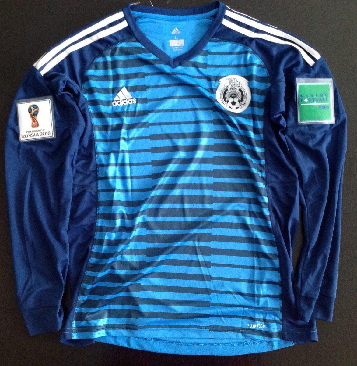 e0dc853a3685c Fabuloso jersey mexico portero azul manga larga parches cargando zoom jpg  1173x1200 Jersey portero de mexico