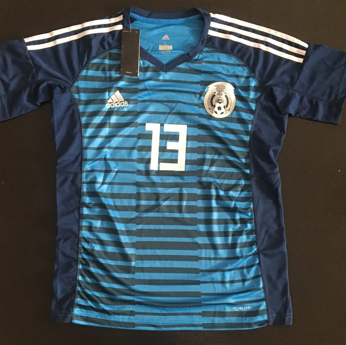 34b933f7551b2 Fabuloso jersey mexico portero azul ochoa talavera cargando zoom jpg  1200x1197 Jersey portero de mexico